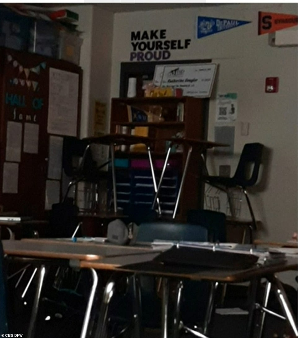 Dale Topham, a history teacher, was in the middle of a lesson on the Revolutionary War when the gunshots rang out.When students were unable to lock the door, several of them pushed a bookshelf, desks, and chairs against it to create a makeshift barricade, according to Topham